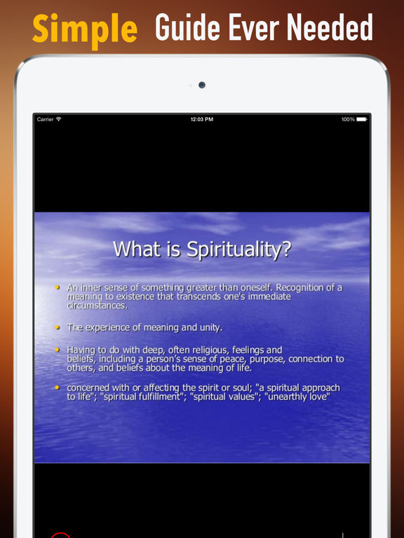 Spirituality Glossary: Cheatsheet with Study Guide screenshot 7