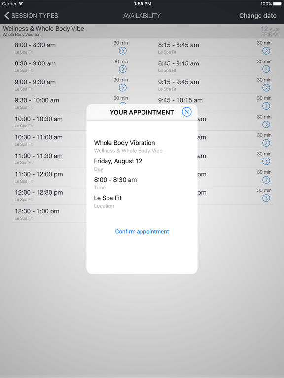 LeSpaFit Mobile screenshot 4