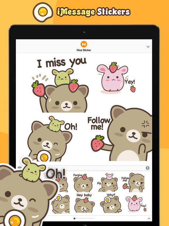 Strawberry Cat - Cute Stickers by NICE Sticker screenshot 9