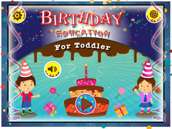 Birthday Party For Kids! Educational Fun Games for Toddler and Preschool Kids screenshot 6