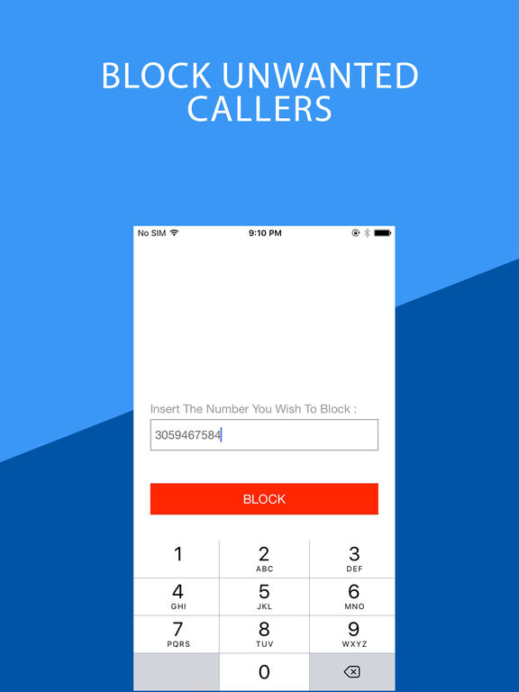 how to block a number on a iphone app shopper number block calls amp spam business 20744