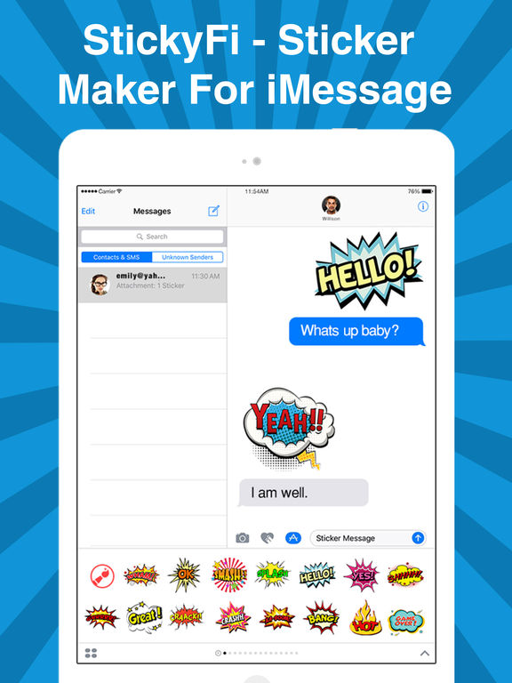 StickyFi - Sticker Maker For iMessage Stickers screenshot 6