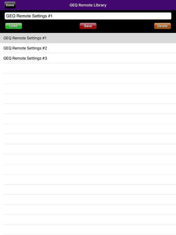 GEQ Remote screenshot 7