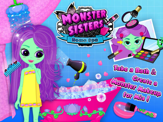Monster Sisters 2 Home Spa - No Ads screenshot 9