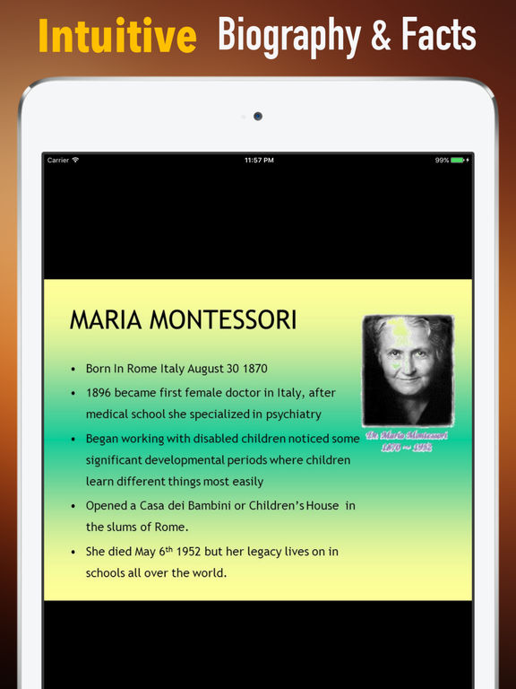 Biography and Quotes for Maria Montessori screenshot 6