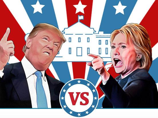 Hillary vs Trump Votes screenshot 3