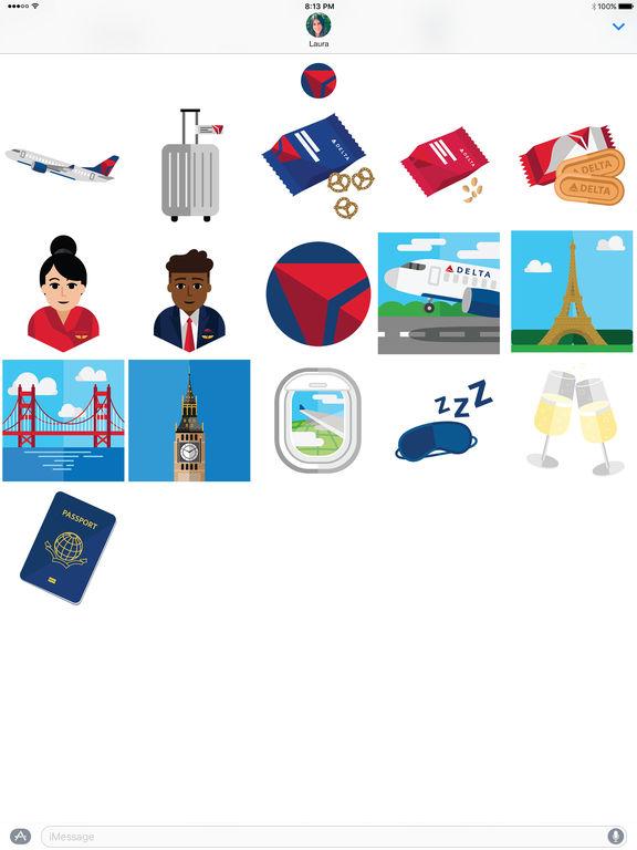 Delta Travel Stickers screenshot 3