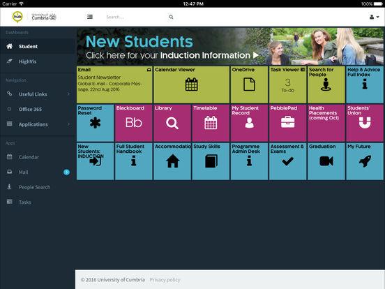 University of Cumbria Hub screenshot 6