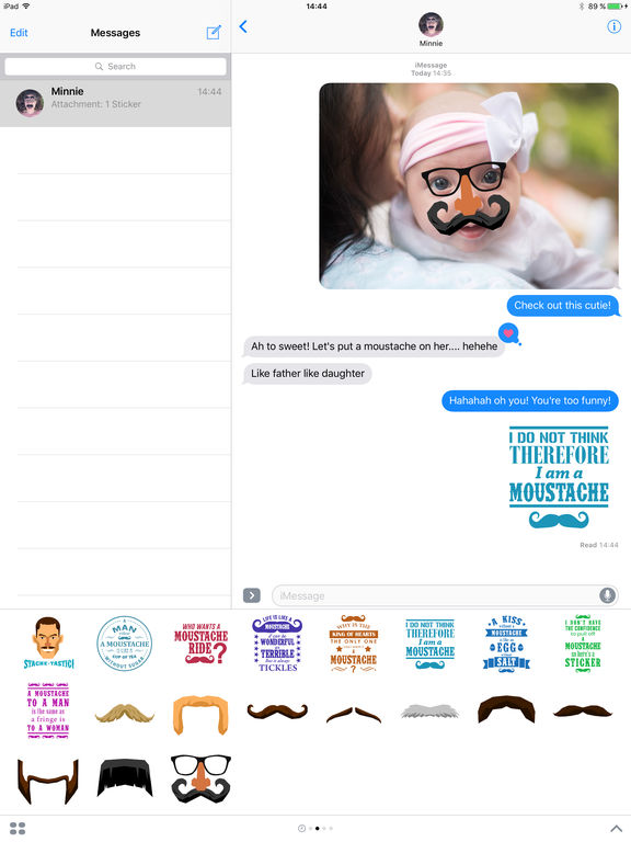 Moustache Moji screenshot 9