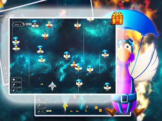 Space Shooter Chicken: War Ship screenshot 4
