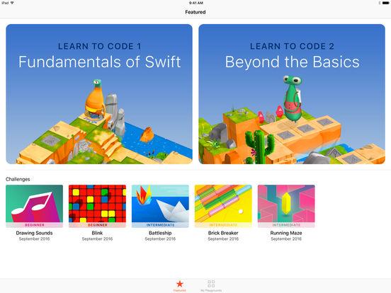 Swift Playgrounds screenshot 1