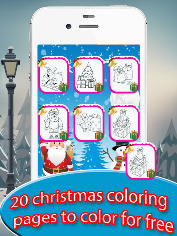 Adult Coloring Book : Christmas Drawing Pages screenshot 7