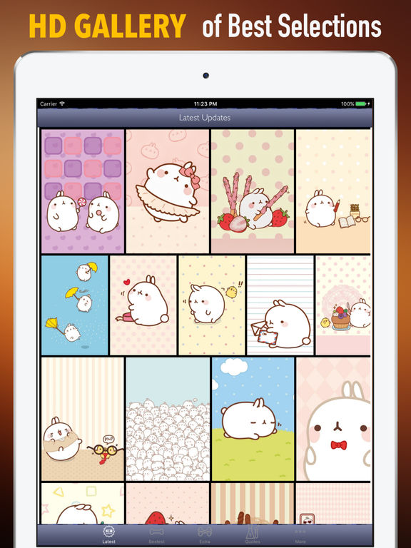 HD Wallpapers for Molang-Art pictures screenshot 6