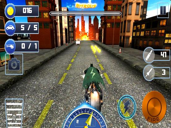 Gunship Bike Shooter : 3D Free Highway Attack screenshot 6
