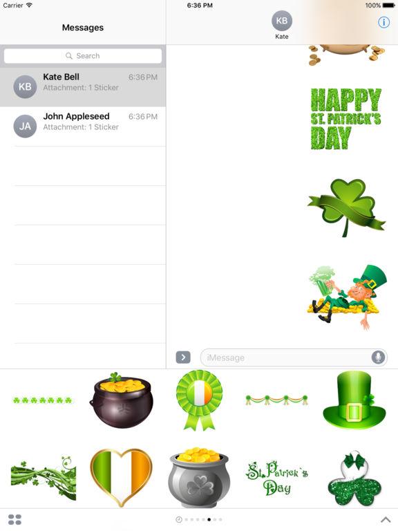 Happy St Patrick's Day Stickers for iMessage screenshot 6