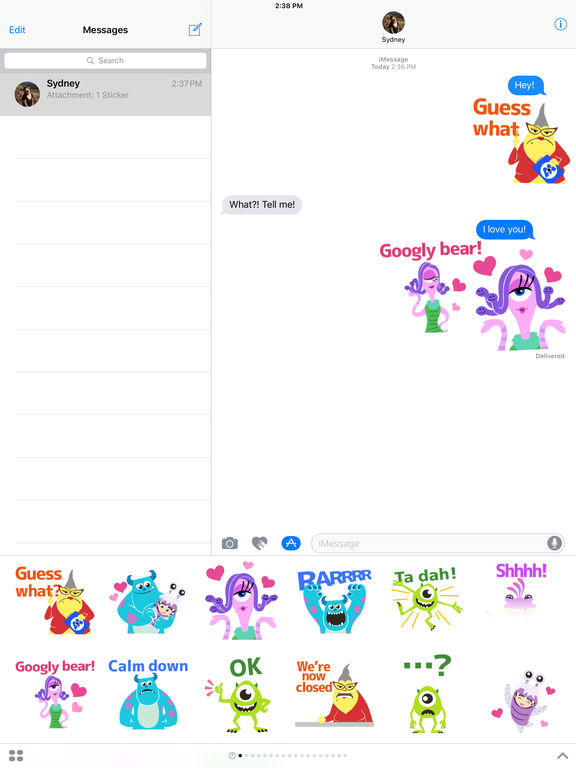 Disney Stickers: Monsters Inc. screenshot 6