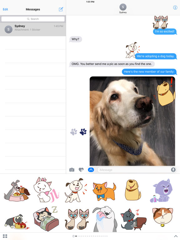 Disney Stickers: Cats and Dogs screenshot 6