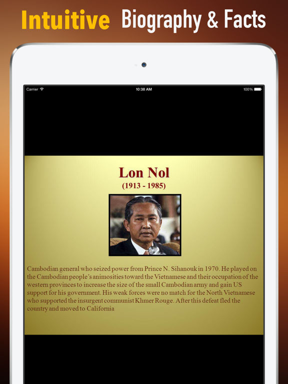 Biography and Quotes for Lon Nol: Life screenshot 6