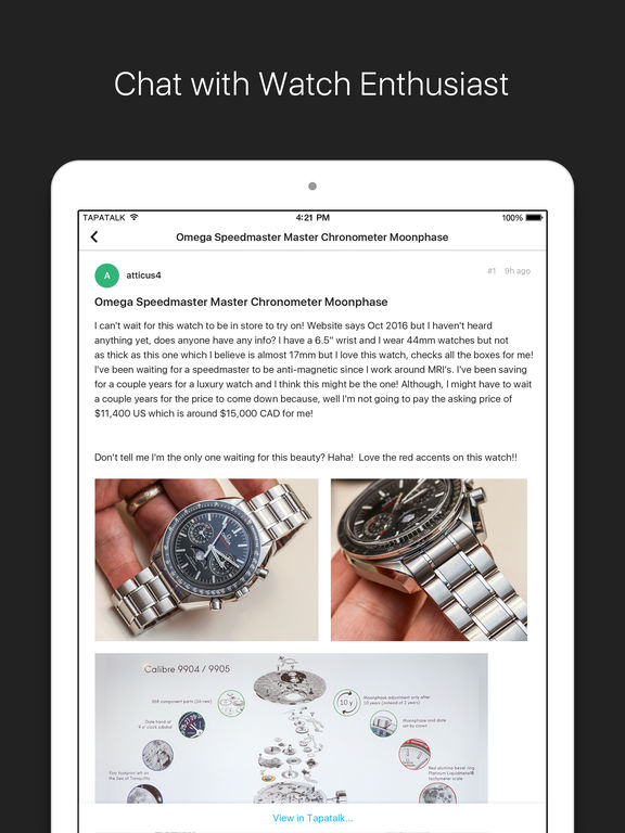 Watch News & Photo App- for Rolex, IWC, TAG & more screenshot 8