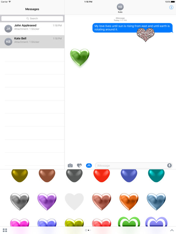 Hearts - Stickers screenshot 5