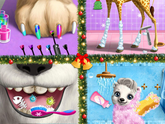 Christmas Animal Hair Salon 2 Crazy Santa Makeover screenshot 10