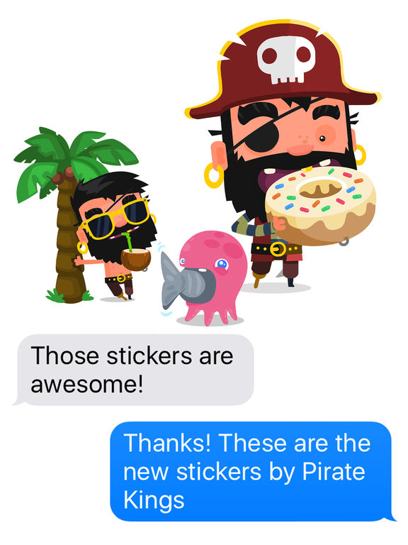Pirate Kings Stickers for Apple iMessage screenshot 6