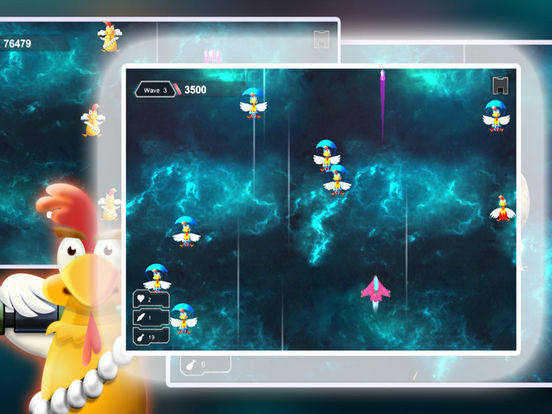 Space Shooter Chicken: War Ship screenshot 5