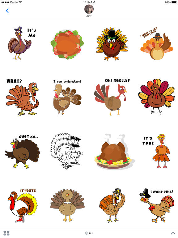 Turkey Stickers - Thanksgiving Turkey for iMessage screenshot 4