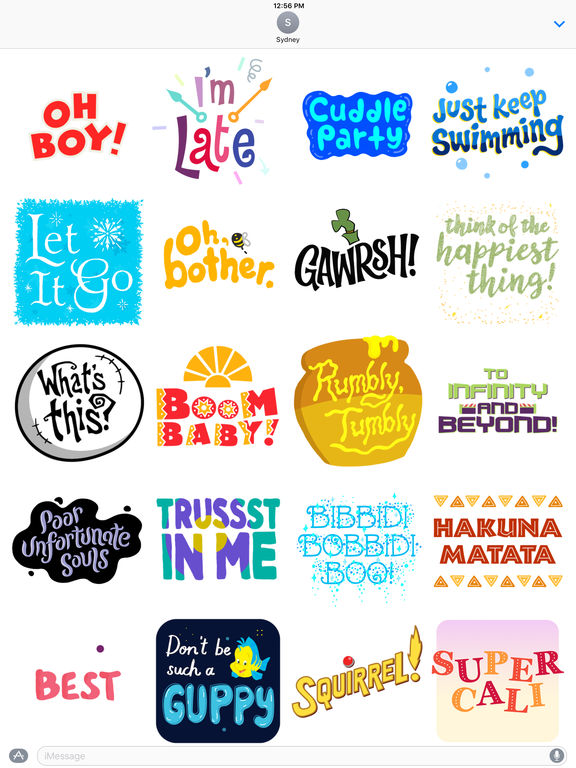 Disney Stickers: Quotes screenshot 10