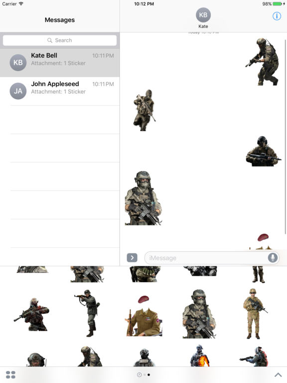Soldier Stickers screenshot 4