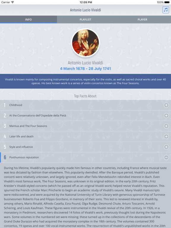 Antonio Vivaldi - Classical Music Full screenshot 5