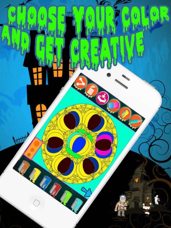 Halloween Mandala Coloring screenshot 8