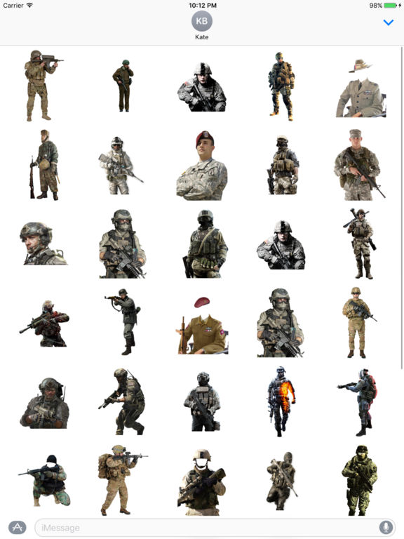 Soldier Stickers screenshot 3