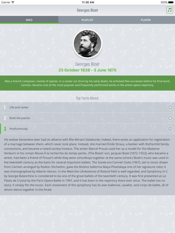 Georges Bizet - Classical Music screenshot 5