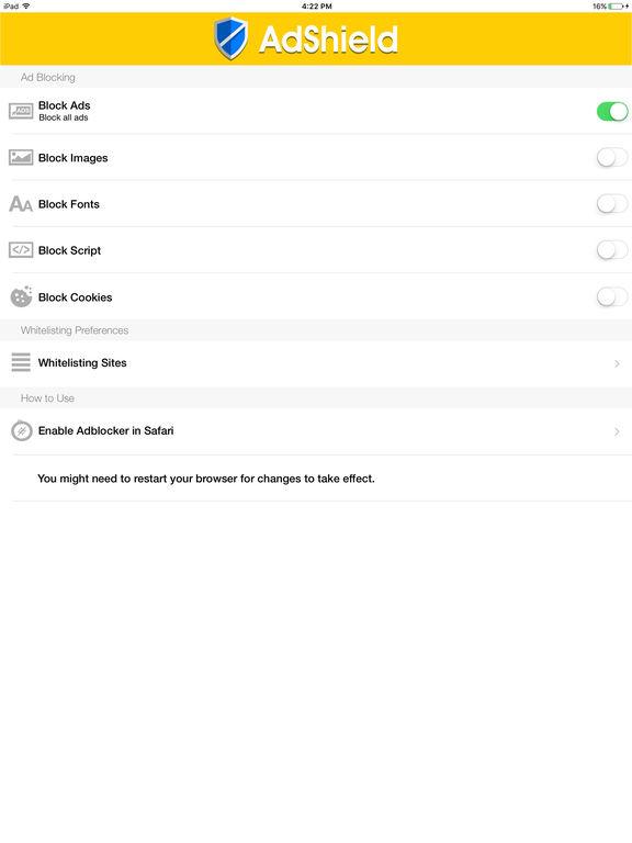 AdShield - Adblock Plus Battery Saver & Ads Filter screenshot 6