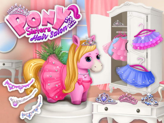 Pony Sisters Hair Salon 2 - Pet Horse Makeover Fun screenshot 6