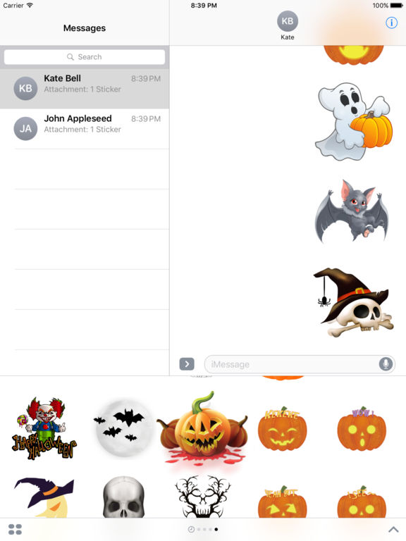 Halloween Freaky Stickers for iMessage screenshot 7