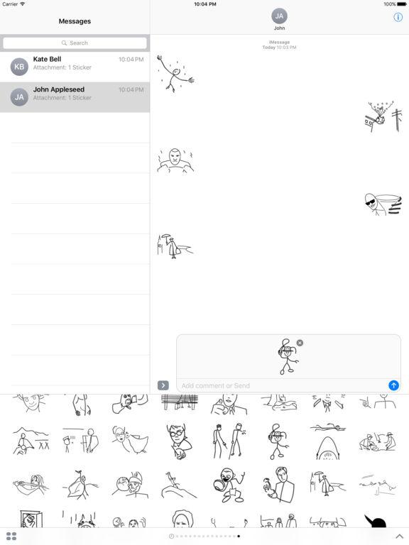 Stick Figure Movie - Stickers screenshot 5