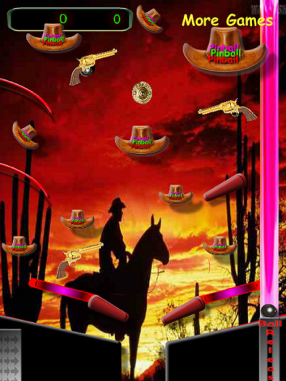 3D Black Jack Cowboy Pinball screenshot 2