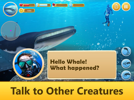 Ocean Whale Simulator: Animal Quest 3D Full screenshot 7