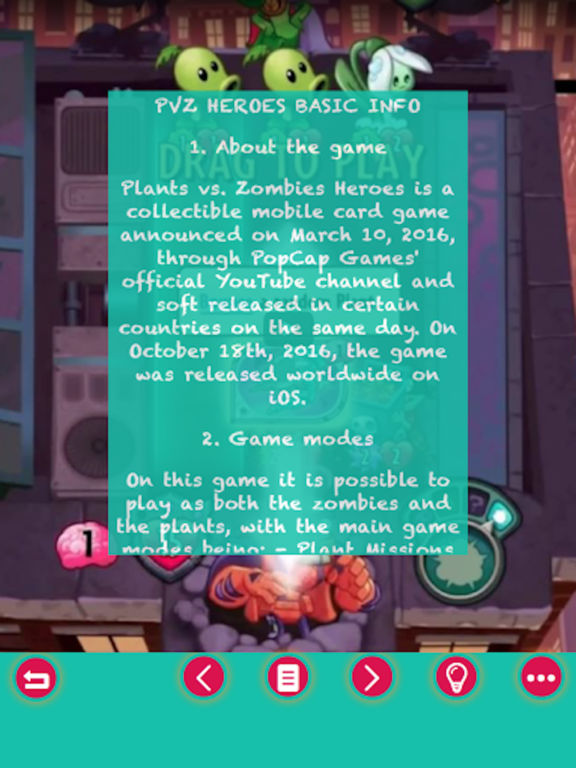 Pro Guide For Plants vs. Zombies Heroes screenshot 2