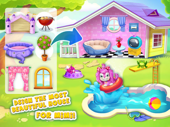 Pink Dog Mimi - My Virtual Pet - No Ads screenshot 7