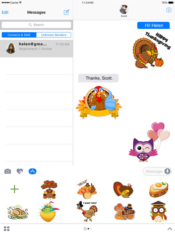 ThanksGiving Sticker screenshot 5