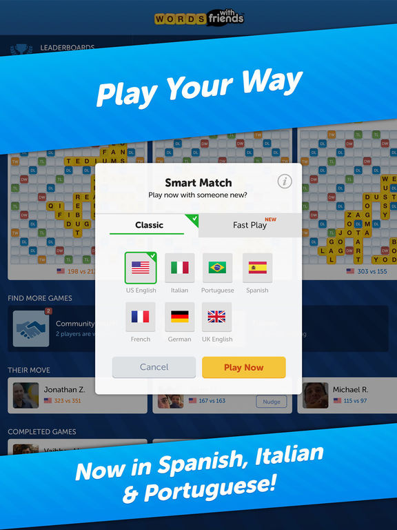 iphone games with friends words with friends best word on the app 15278