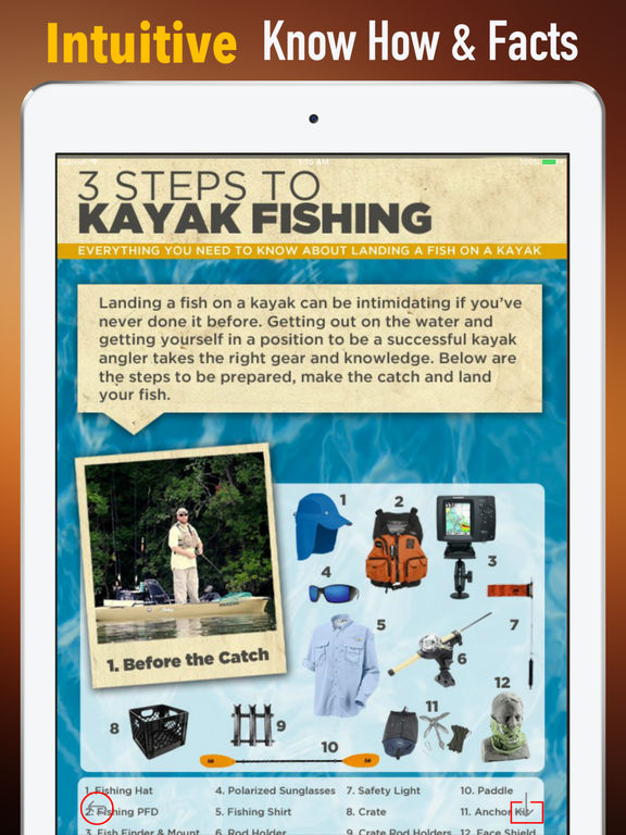 Kayak Fishing Quick Reference - Tips and Guide screenshot 5
