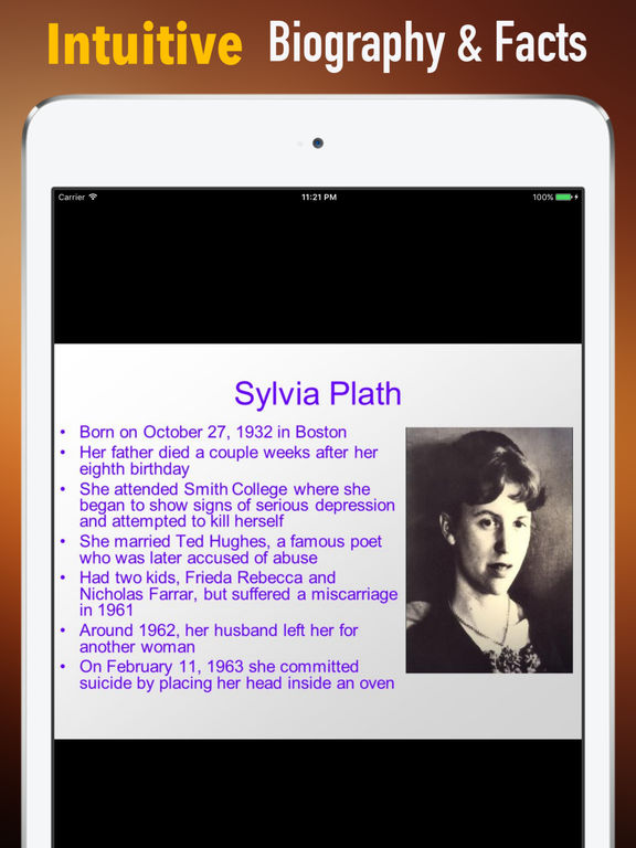 Biography and Quotes for Sylvia Plath screenshot 6