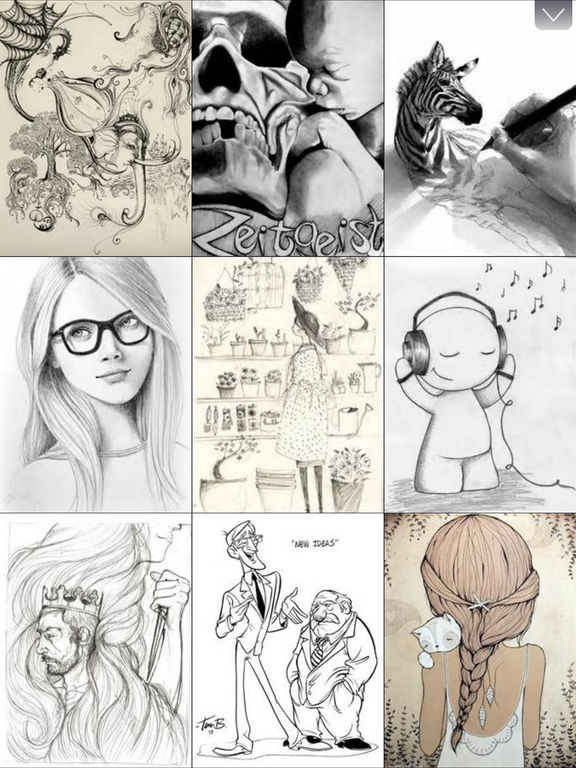 Drawing Ideas - Emotive Art Drawings Collection HD screenshot 6