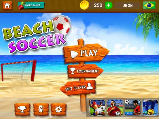 Beach Soccer 2k17 - ultimate mobile soccer hero 3D screenshot 8