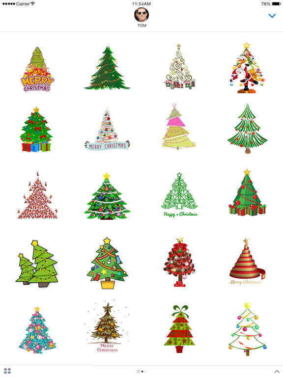 Christmas Tree Emoji.Christmas Tree Emoji Stickers For Imessage Apps 148apps