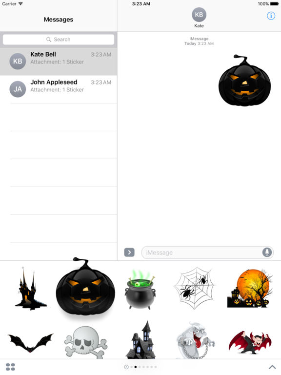 Halloween Creepy Stickers for iMessage screenshot 8